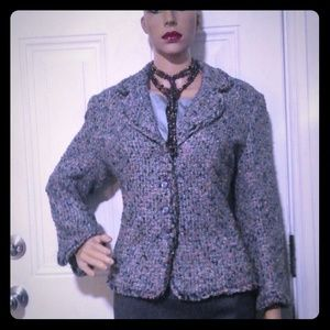 ESCADA BLACK LABEL BOUCLE TWEED JACKET